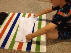 Preschool Montessori Practical Life - Folding Clothes