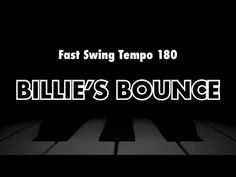 Billie's Bounce (Charlie Parker) - Backing Track Jazz Standard, Backing Tracks, Jazz Musicians, Need To Know, Things That Bounce