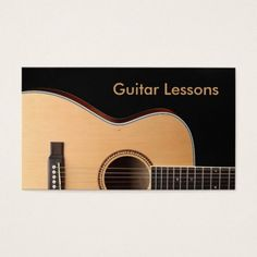 Rustic guitar business card template i love this design it is business card guitar lessons business card reheart Images