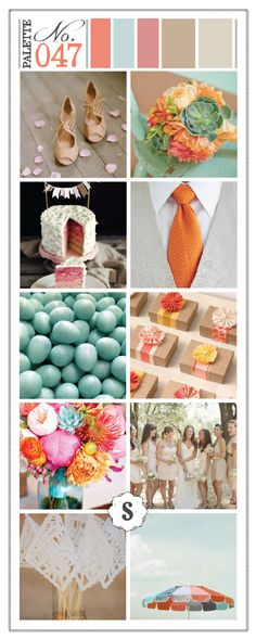Color Inspired: Shades of Tan, Robin's Egg, Salmon and Burnt Orange