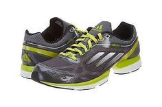 ADIDAS ADIZERO RUSH MENS G47896 Silver Green Running Shoes Sneakers Size 11