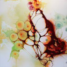 Art by Rikke Darling - Prepered for life (110x110 cm.)