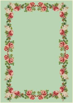Printable vintage rose stationery (- perfect rose writing paper for mother's day)