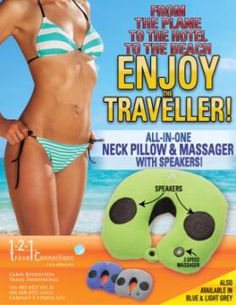 Amazing #gift or for yourself! #neck #pillow, #neck massager & #speakers to listen to #music, #movies & More! Will Ship! Retail - $59.99 ON SALE $29.99 contact me to order! In Stock Now!4164185937