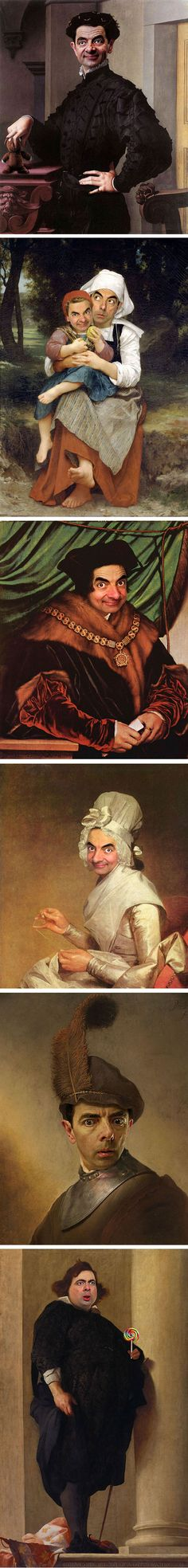 Mr Bean in famous paintings