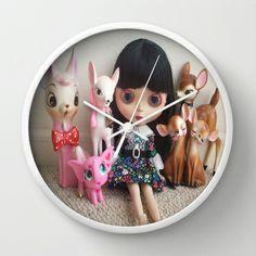 snowwhite Wall Clock by Vintage  Cuteness - $30.00#blythe #doll #deer #fawn #kitsch #pink #elephant #childrens #kawaii #girly #decor #clock