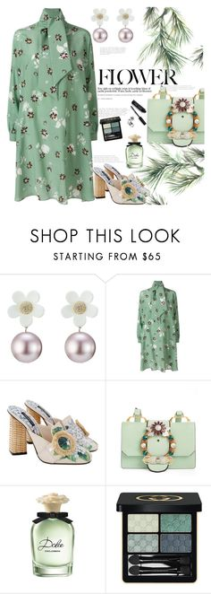 """""""Bloom where you are planted 🌸🍀🌼🌺🌷"""" by naki14 ❤ liked on Polyvore featuring Marc Jacobs, Valentino, Dolce&Gabbana, Miu Miu, Eco Style, Gucci, Bobbi Brown Cosmetics, flower, print and trend"""