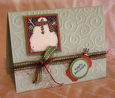 CC139 - Woodcut Snowman by cmc2stamp - Cards and Paper Crafts at Splitcoaststampers