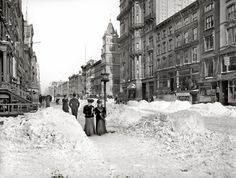 "New York circa 1905. ""Fifth Avenue after a snow storm."""