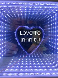 Love to Infinity Led Infinity Mirror, Infinity Lights, Mirror With Led Lights, Led Mirror, Science Projects, Easy Projects, Router Projects, Saved Pages, Mirror Effect