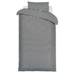 Tasaraita duvet cover and pillow case, black-white  Manufacturer: Marimekko  Design: Annika Rimala