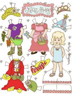 Miss Ruby Paper Dolls