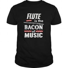 Awesome Tee Flute is the Bacon of Music TShirt Marching Band Shirt T shirt