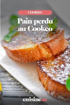 Le pain perdu est une recette anti-gaspillage par excellence car on le réalise avec un reste de pain. Vous pouvez servir ce pain perdu cuisiné au Cookeo lors d'un goûter ou d'un brunch en famille ou entre amis. #recette#cuisine#cookeo#painperdu#brunch #gouter Brunch, Cantaloupe, French Toast, Fruit, Breakfast, Robot, Desserts, Cooking Recipes, Quick Recipes