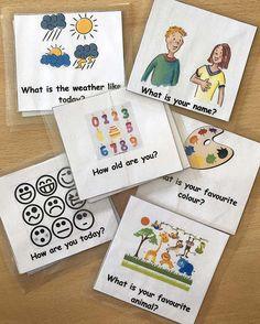 Spiele für den Englisch-Unterricht: Auf den ausgedruckten und laminierten Karten steht vorne eine Frage, rückseitig die Antwort.