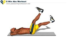 10 Minute Home Bodyweight Abs Crusher Workout 👈💪🙏 8 Min Ab Workout, Sixpack Abs Workout, Ab Workout At Home, Workout Videos, At Home Workouts, Abc Workout, Street Workout, Workout Bauch, Best Abs