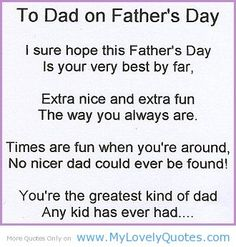 Lovely Father's Day Poem