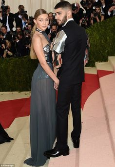 Rearly impressive: Gigi showed off her famously delightful derriere thanks to her sheer sk...