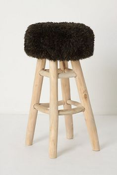Love this fuzzy bar stool!
