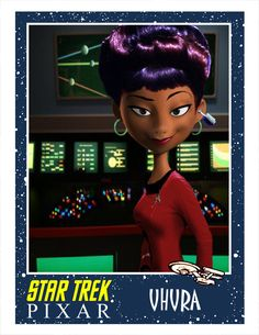 Uhura, Star Trek as done by Pixar. From Minion Factory.