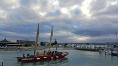 Maori boat in Napier waterfront