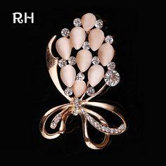146697d79aa [US $2.59] Elegant RHao Mix Color Opal Brooch pins Brooches for women # brooch