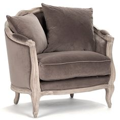 Maison Love Velvet & Limed Gray Oak Chair #laylagrayce