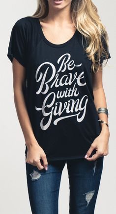 Giving back is the new black! For every shirt sold #Sevenly donates $7 to a designated charity.