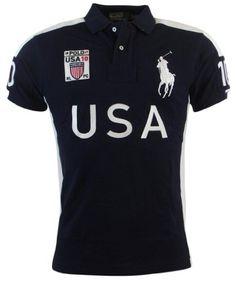 Polo Ralph Lauren Men\u0026#39;s Custom Fit Big Pony USA Graphic Polo Shirt #PoloRalphLauren #USA