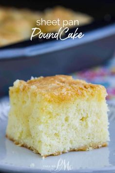 Sheet Pan Pound Cake is a classic pound cake recipe baked in a nontraditional pan. It still has the crunchy top and buttery soft inside. 9x13 Cake Recipe, Classic Pound Cake Recipe, Vanilla Pound Cake Recipe, Homemade Pound Cake, Easy Pound Cake, Homemade Cakes, Pound Cakes, Sheet Cake Recipes, Cake Recipes From Scratch