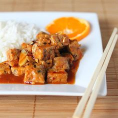 General Tso's Tempeh. vegan glutenfree | Vegan Richa