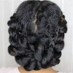 Ashley twist updo on stretched natural hair… - Hair Style 4b Natural Hair, Natural Braided Hairstyles, Pelo Natural, Natural Hair Updo, Natural Hair Twist Styles, Black Kids Hairstyles, African Hairstyles, Children Hairstyles, Hairstyles Videos