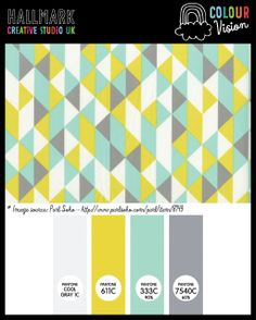 A cool bright colour palette (inspired by a pattern from purlsoho.com) at hallmark-creative.co.uk