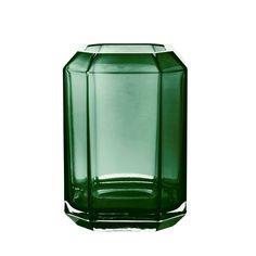 Grøn glasvase fra Louise Roe