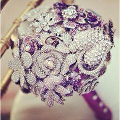 Purple Swavorski bouquet