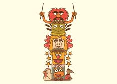 """""""Friendship Totem Pole"""" - Threadless.com - Best t-shirts in the world"""