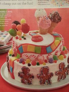 Candy land cake. From Parents Magazine