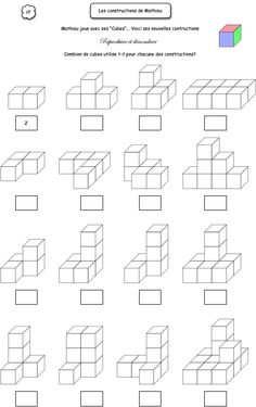 Count the cubes 1st Grade Math, Kindergarten Math, Teaching Math, Math Classroom, Mental Maths Worksheets, Maths Puzzles, Math Games, Math Activities, Math For Kids
