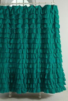Solid Forest Green Shower Curtain