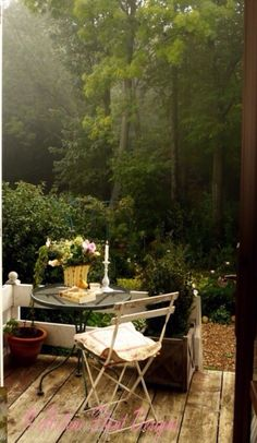 Patio in Forest