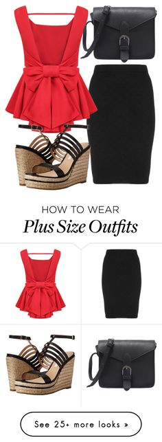 """""""RedLight"""" by ljbminime on Polyvore featuring Manon Baptiste and Diane Von Furstenberg"""