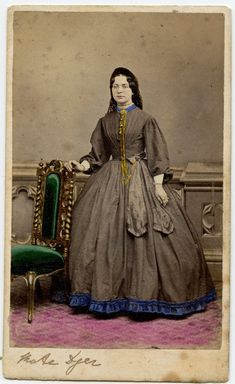 Mate Dyer, 1860's Dress, Jewellery, hand-painted CDV by Mr. James Pitt, London | eBay
