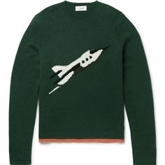 Rocket Ship Intarsia Cashmere Sweater   🎶 Fly me to the moon