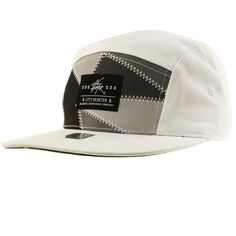 Men's Summer Cotton Zig Zag Stitch 5 Panel Snapback Cadet Cycle Cap Hat White #CH #snapback