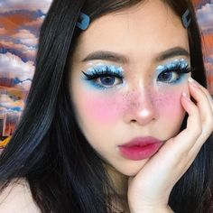☁️(big) Head in the clouds☁️ my forehead is really out to play today lol. Creative Eye Makeup, Eye Makeup Art, Makeup Inspo, Beauty Makeup, How To Do Eyeliner, Best Eyeliner, How To Apply Makeup, 3d Mink Lashes, Fake Eyelashes