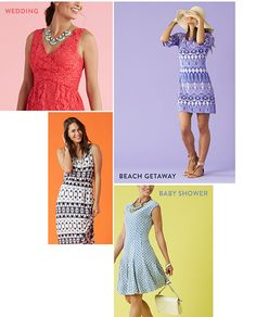Thinking of spring...I like the two dresses on the right (both blue ones).