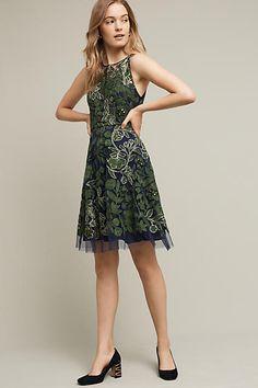 JENS DRESS Embroidered Fern Dress - anthropologie.com