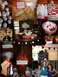 Couples Bridal Shower picnic idea, budget friendly menu and decor.