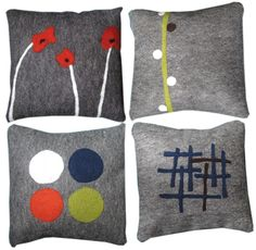 felted pillows