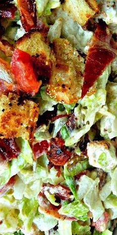 Chopped BLT Caesar Salad ❊